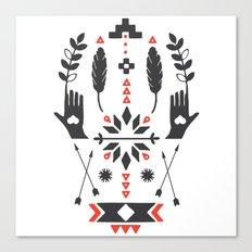 Norwegian Folk Graphic Canvas Print