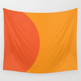 Orange Rising Wall Tapestry