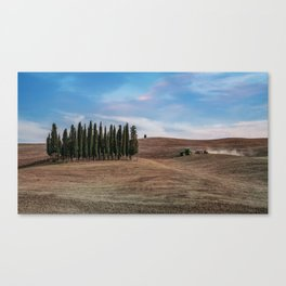 Busy day at Toscany Canvas Print