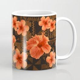Kalalau Tapa Hawaiian Hibiscus Vintage Inspired Print Coffee Mug