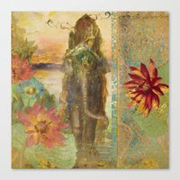 lily Canvas Prints featuring Lily by Aimee Stewart