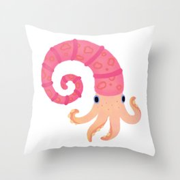 Ancient cephalopods Throw Pillow