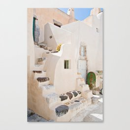 Home in Santorini Canvas Print