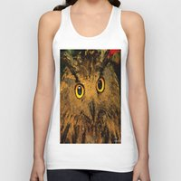 owls Tank Tops featuring Owls by Joe Ganech