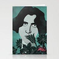 oscar wilde Stationery Cards featuring Oscar Wilde by Phantasmagoria