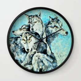 Our Brothers, the Wolves Wall Clock