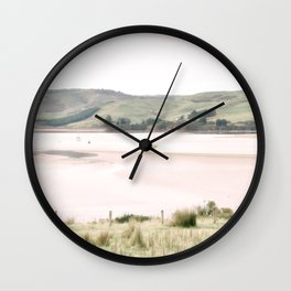 Boats on the water (color) Wall Clock