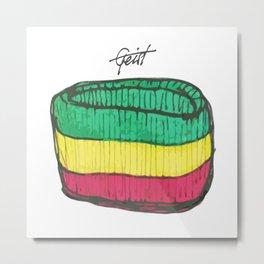 """Band"" Rasta Wristband Green / Yellow / Red Metal Print"