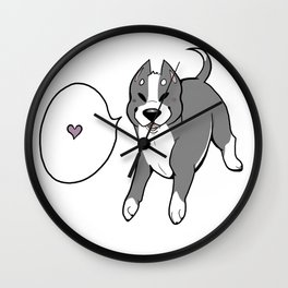 DOG DAYS: Pitbull Wall Clock