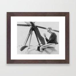 Amelia Earhart Framed Art Print