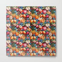 Watercolour Fruit - Bright Metal Print