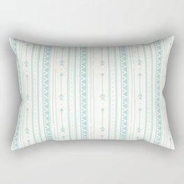 Blush green bohemian arrows zigzag geometrical Rectangular Pillow