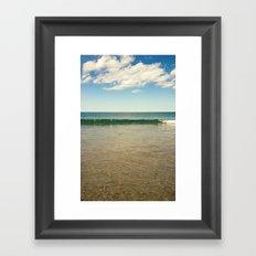 clear ocean water Framed Art Print