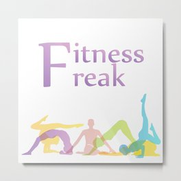 Fitness freak with people doing yoga Metal Print