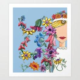 I Love the Flower Girl Art Print