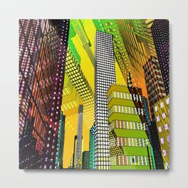 the colored city -4- Metal Print