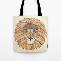 leo Tote Bags featuring Leo by Vibeke Koehler