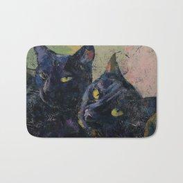 Black Cats Bath Mat