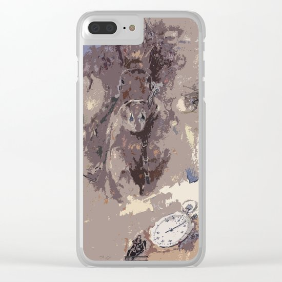 The first victory at the track Clear iPhone Case
