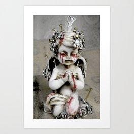 Massacred Angel: mixing Heaven with Hell. Art Print