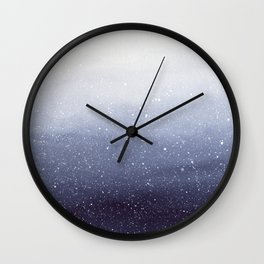 Falling Snow Wall Clock