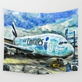 Emirates A380 Airbus Art Wall Tapestry