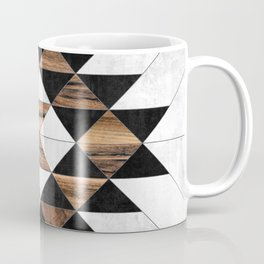 Urban Tribal Pattern No.9 - Aztec - Concrete and Wood Coffee Mug