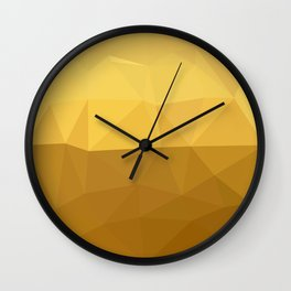 Light Goldenrod Abstract Low Polygon Background Wall Clock