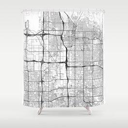 Salt Lake City Map White Shower Curtain