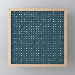 Hand Drawn Dots on Dark Teal Framed Mini Art Print
