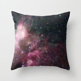 Glitter Star Galaxy Throw Pillow