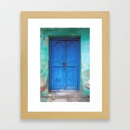 Blue Indian Door Framed Art Print