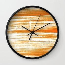 Tigers eye abstract Wall Clock