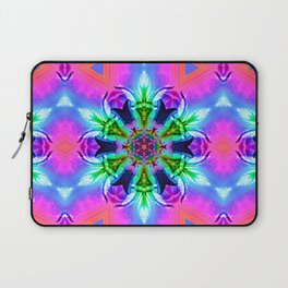 Cannabaphomet (Psychedelic Glitch Mandala Remix Version) Laptop Sleeve