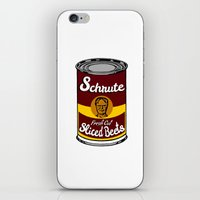 dwight schrute iPhone & iPod Skins featuring Schrute Fresh Cut Sliced Beets  |  Dwight Schrute  |  The Office by Silvio Ledbetter