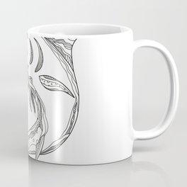 Atlantic Blue Marlin Doodle Coffee Mug