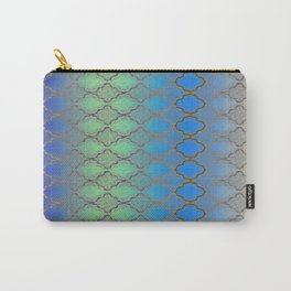 Diamond Grid Mermaid Carry-All Pouch