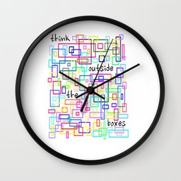 Outside the boxes Wall Clock