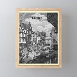 retro noir et blanc Chester Framed Mini Art Print
