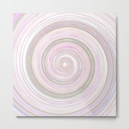 Re-Created Spin Painting No. 17 by Robert S. Lee Metal Print