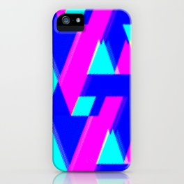 A/V + neon dots iPhone Case