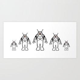 Eyebots on March Art Print