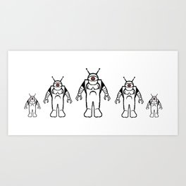 Eyebots on March Art Print