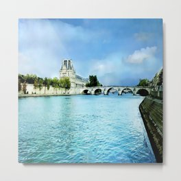 Seine River - Paris France Metal Print