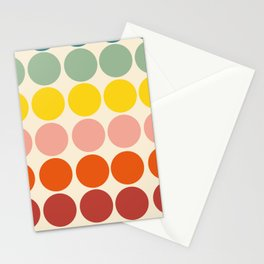 Classic Freehand Retro Bubbles And Dots Stationery Cards