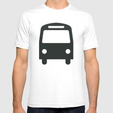 Bus White Mens Fitted Tee SMALL