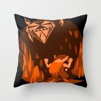 gnome Throw Pillows featuring Mana: Gnome by FirebornForm