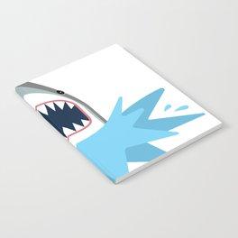 Cartoon Shark Splash Notebook