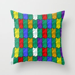 Feathers Pattern Throw Pillow