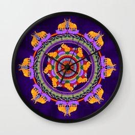 The Lu Mandala; Prosperity & Success Wall Clock